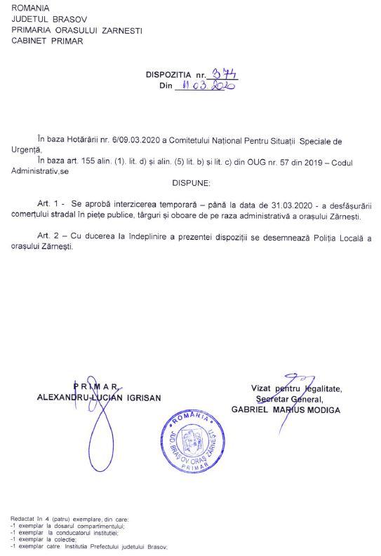 Siteul Oficial Al Primariei Orasului Zarnesti